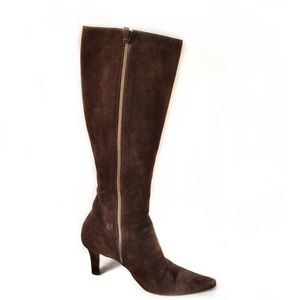 Burberry Brown Suede Knee High Boots